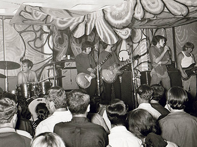 Historic photo: band onstage at 1969 library concert